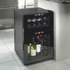 Silent Series 24 Bottle Dual Zone Freestanding Wine Refrigerator