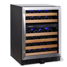 Classic 46 Bottle Dual Zone Built-In Wine Refrigerator