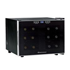Silent 12 Bottle Dual Zone Wine Refrigerator