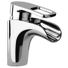 J10 Bath Series Single Loop Handle Bathroom Faucet with Waterfall Spout