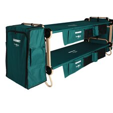 Cam-O-Bunk Bed with 2 Organizer Cabinet