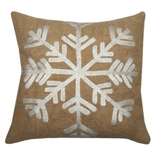 Snowflake Jute Throw Pillow