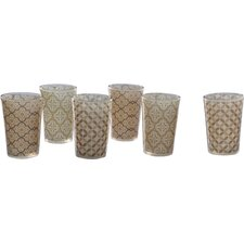 Moroccan 6 Piece Tea Glass Set