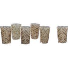 Moroccan 6 Piece Tea Glass Set (Set of 6)