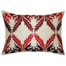 Vibrant Vines Cotton Lumbar Pillow