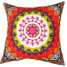 Suzani Cotton Throw Pillow