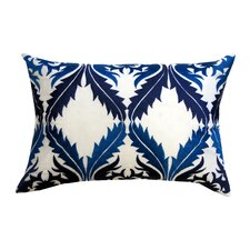 Vibrant Vines Cotton Lumbar Pillow
