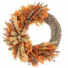 "Pumpkin Spice 22"" Natural Elements Wreath"
