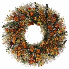 "Spicy Pepper Harvest 22"" Natural Elements Wreath"