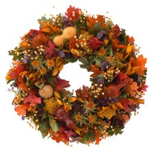 Harvest Gourds Wreath