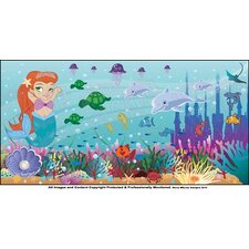 Mermaid Girl Hanging Wall Mural