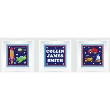 3 Piece Cars/Trucks Picture Frame Wall Decal