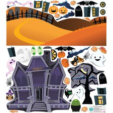 Fall Holidays Haunted House Wall Decal Set