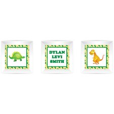 3 Piece Dinosaur Picture Frame Wall Decal
