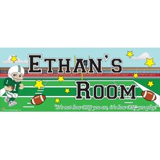 Football Boy Name Wall Decal