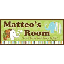 Elephant Boy Name Wall Decal