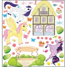 Pony Unicorn Friends Wall Decal