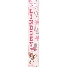 Cowgirl Personalized Growth Chart