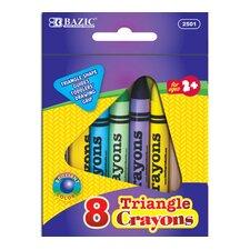 8 Color Premium Quality Triangle Crayon