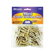 50 Ct. Mini Clothespins Set