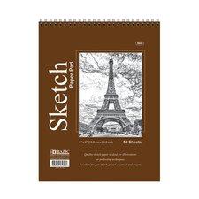 Top Bound Spiral Premium Sketch Pad (Set of 48)