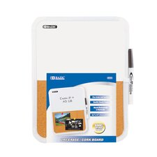 Wall Mounted Combination Whiteboard, 1' H x 1' W