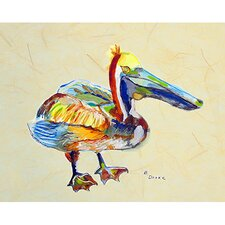 'Heathcliff Pelican B' by Betsy Drake Painting Print on Canvas