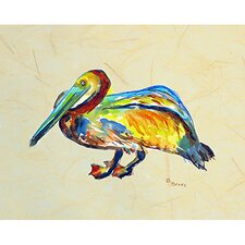 'Gertrude Pelican B' by Betsy Drake Painting Print on Canvas
