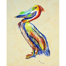 'Sylvester Pelican B' by Betsy Drake Painting Print on Canvas