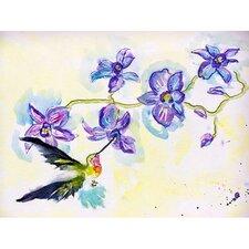 Hummingbird and Clematis Painting Print
