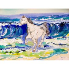 Horse and Surf Painting Print