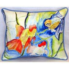 "Fantails 24"" Indoor/Outdoor Lumbar Pillow"