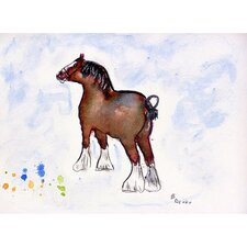 'Clydesdale' by Betsy Drake Painting Print on Canvas