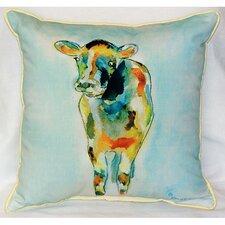 Cow Indoor/Outdoor Throw Pillow