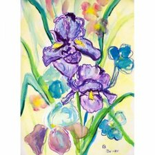 'Two Iris' by Betsy Drake Painting Print on Canvas