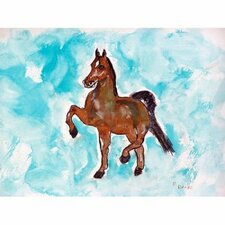 'Dancing Horse' by Betsy Drake Painting Print on Canvas