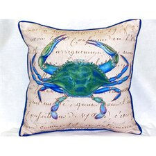 Male Crab Beige Indoor/Outdoor Throw Pillow