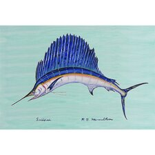 Coastal Sailfish Painting Print