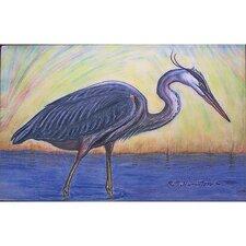 Coastal Blue Heron Painting Print