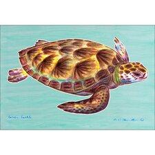 Coastal Green Sea Turtle Painting Print