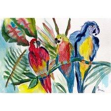 Garden Parrot Family Painting Print