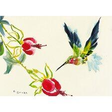 Garden Hummingbird Painting Print