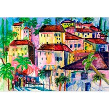 Garden Fun City I Painting Print on Wrapped Canvas