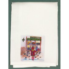 Holiday Girl at Window Hand Towel (Set of 2)