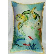Coastal Sea Turtle Indoor/Outdoor Lumbar Pillow