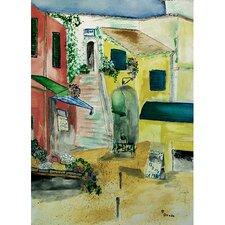 Garden Paris Bistro Painting Print