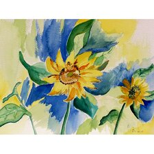 Garden Sunflowers Painting Print
