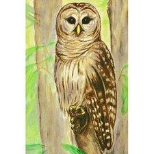 Garden Owl Painting Print