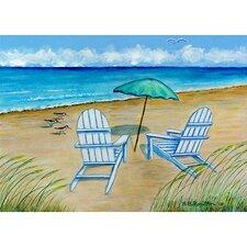 Coastal Adirondack Chairs Painting Print