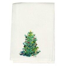 Holiday Christmas Tree Hand Towel (Set of 2)